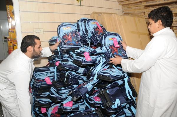 استعداد بر المزروعية لمشروع الحقيبة المدرسية
