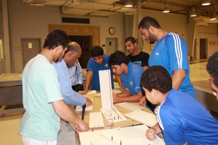 جانب من البرنامج التدريبي بالمعهد الصناعي الثالث